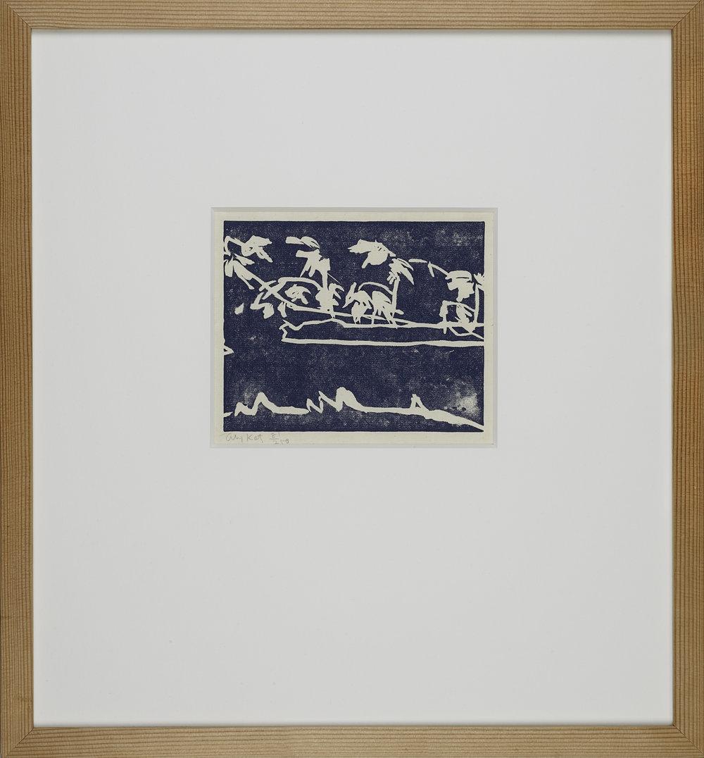 Alex Katz  Coleman´s pond . Linolschnitt . Edition 250 .  1.200 Euro   unverbindliche Anfrage