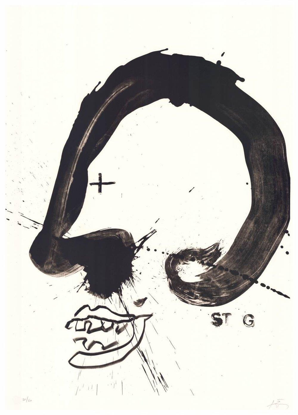 Antonie Tàpies   Improvisations en blanc i negre V . 1987 Lithographie . Auflage 60 . 105 x 75 cm  2.800 Euro  unverbindliche Anfrage