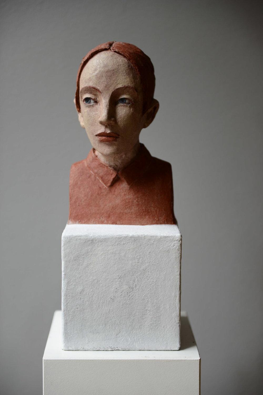 kleiner Kopf auf Quader (aus der Serie I-XI)