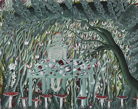 Die Einladung . 2007/08 . Öl auf Leinwand . 150 x 200 cm