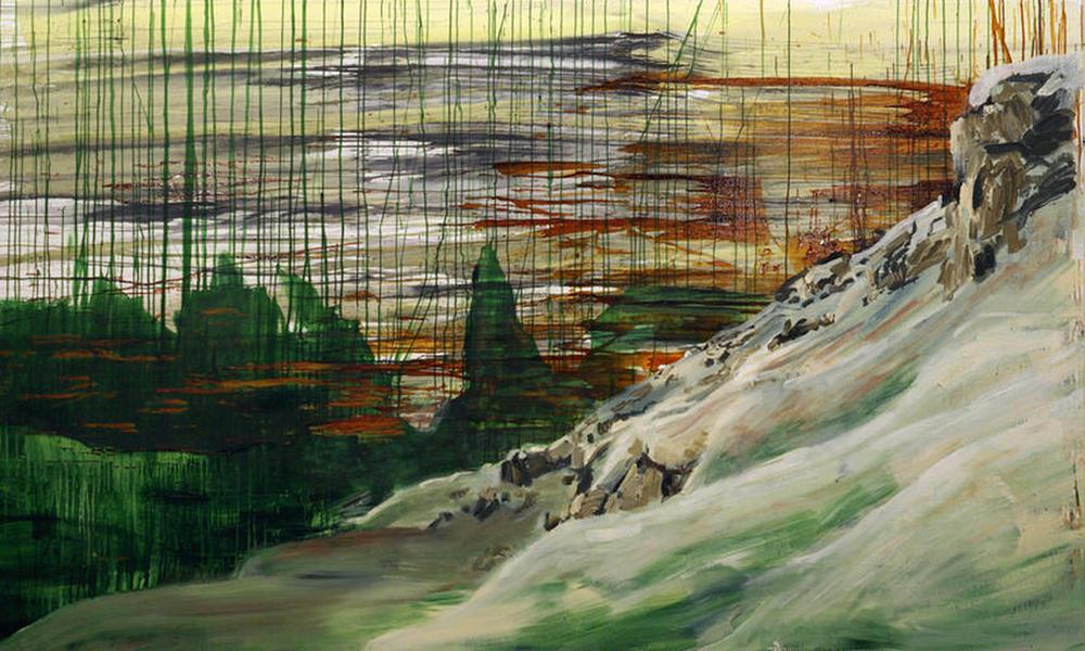 Piz Boe .2007 .180 x 300 cm .Pigment, Acryl auf Leinwand