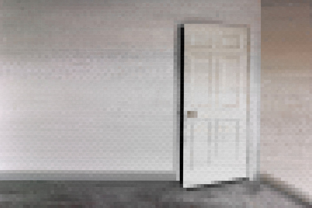 white door . 2012 . oil on canvas . 200 x 300 cm