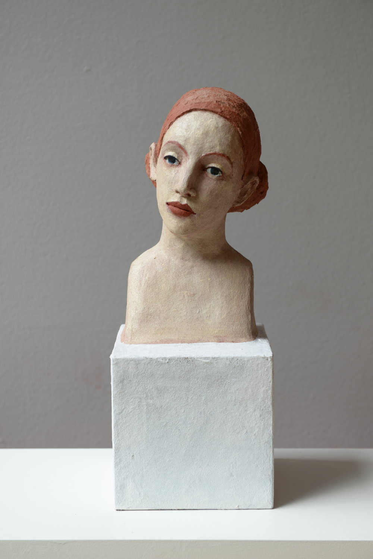 Annette Meincke-Nagy .Hommage an Lucas Cranach II .2017 . Cellulose, Quarzsand, Pigmente . 41 cm