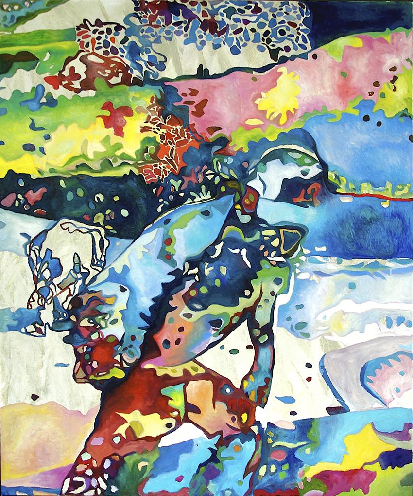 Elephant . 2017 Acryl / Öl auf Leinwand . 180 x 150 cm