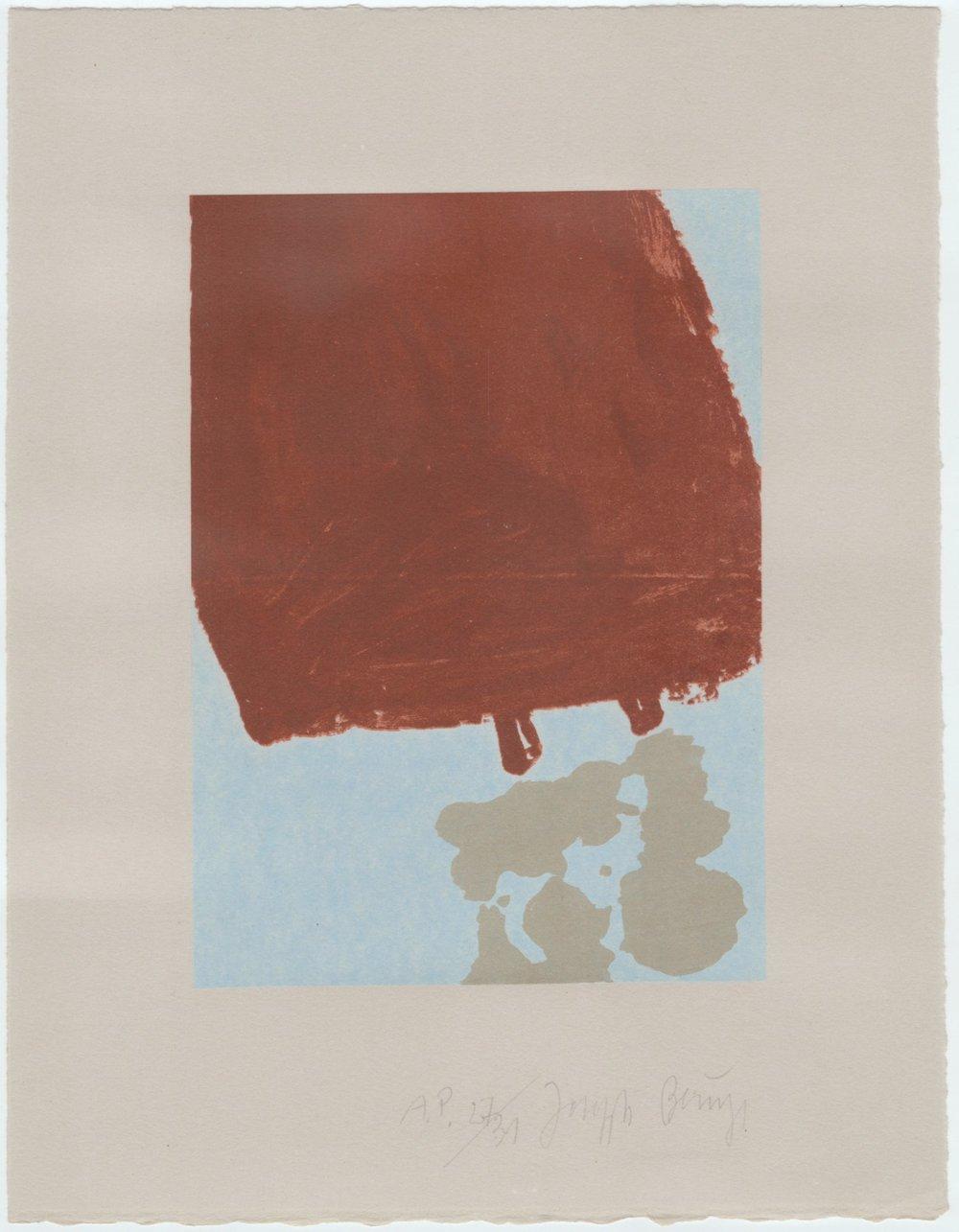 Schwurhand-mit Fett gefüllte Skulptur 34/75 (Normalausgabe, Aquatinta und Lithographie auf Rives gris) 1980