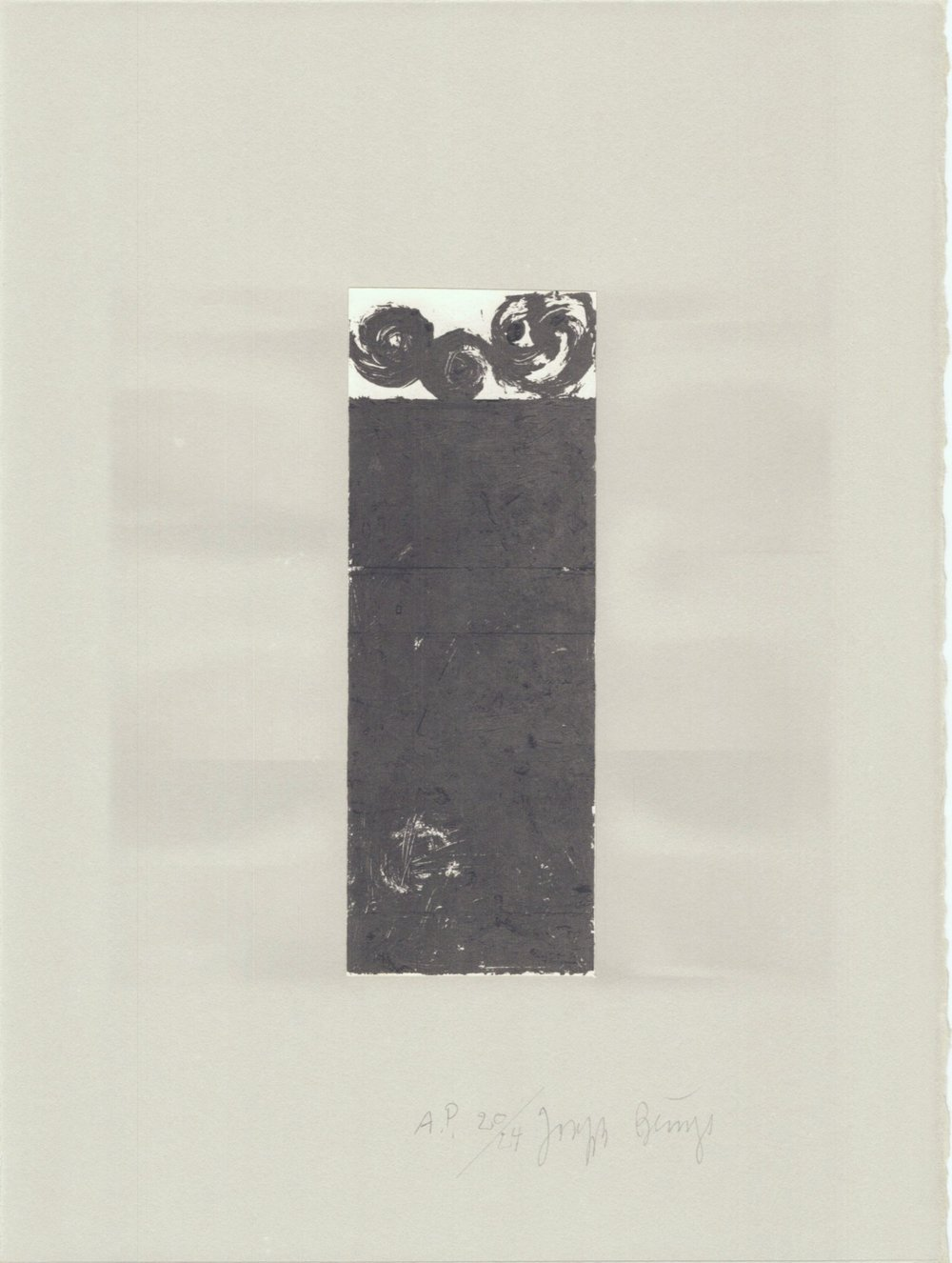 Schwurhand-Scrolls 71/75 (Normalausgabe, Lithographie auf Rives gris) 1980