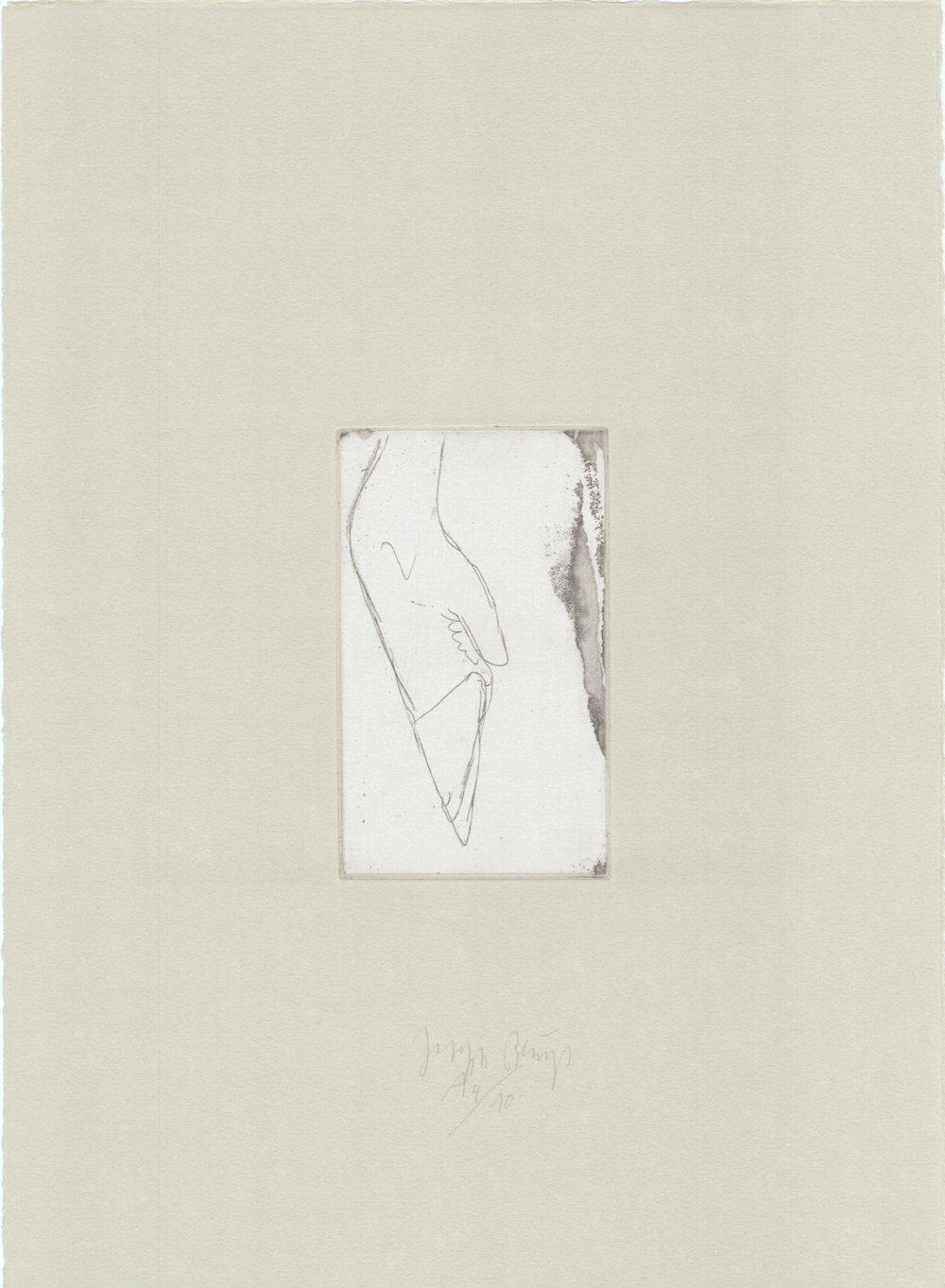 Tränen- Hirschfuß 13/25 (Normalausgabe, Radierung auf Rives gris) 1985