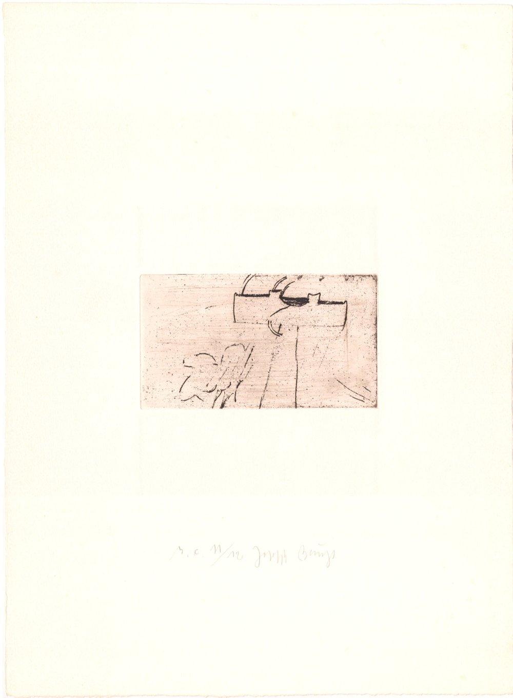 Kreuz für Saturn - 53/75 (Normalausgabe, Radierung und Kaltnadel auf Rives gris)