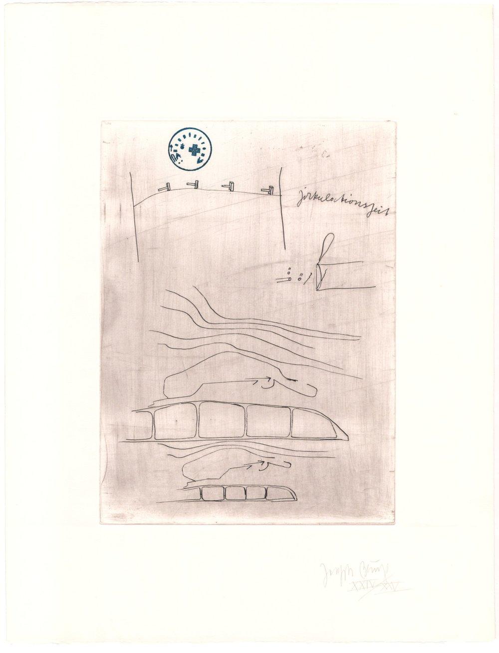 Zirkulationszeit - 16 / 75 (Normalausgabe, Radierung auf Arches France) 1982