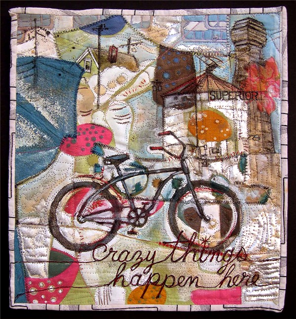 """Crazy Things Happen Here,"" 2008. 13""h x 12""w, private collection."