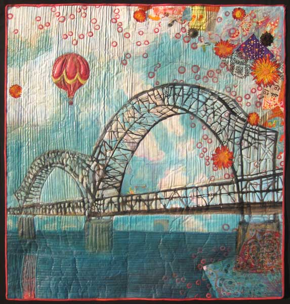 """Bridge with Balloons,"" 2009. 44""h x 42""w, private collection."