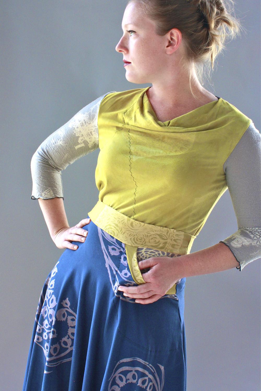 Carnival Cowl Tee & Horseshoe Skirt