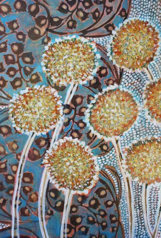 "detail, ""Alliums on Blue"""