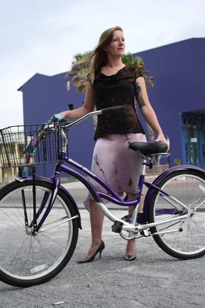 Carnival Cowl Tee & Classic Silk Skirt, Florida.