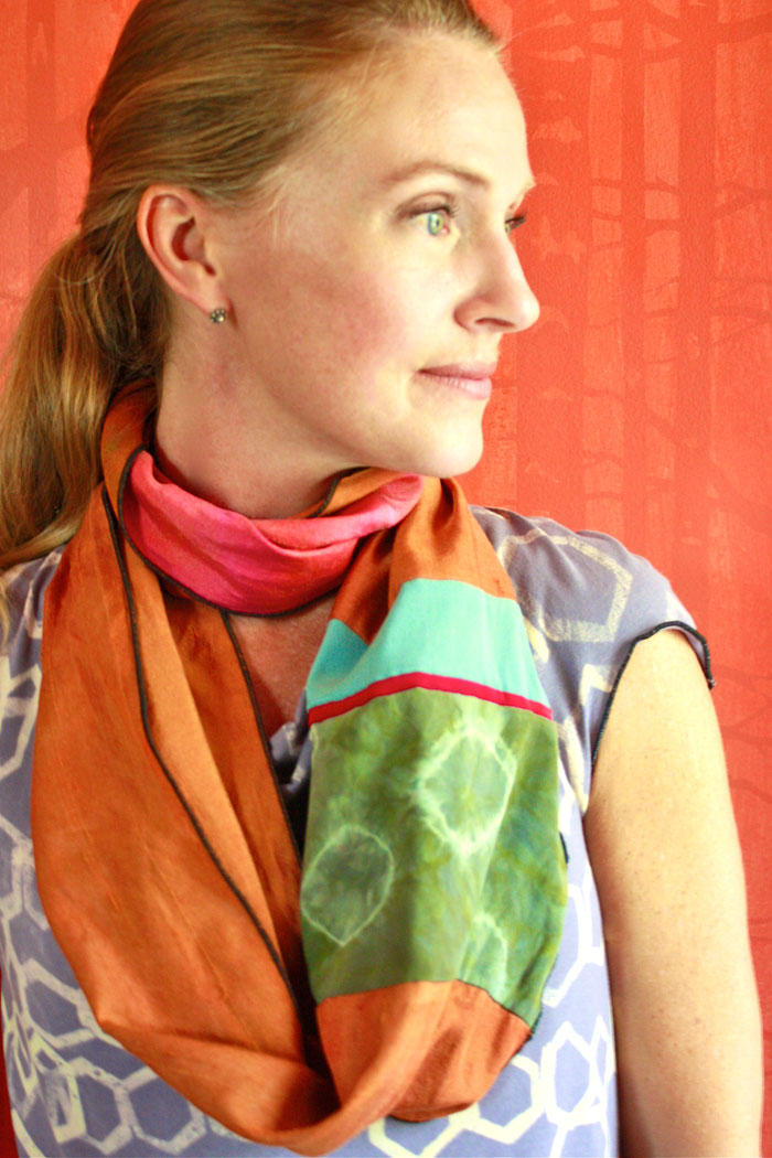 Carnival Cowl Tee & Silk Infinity Scarf