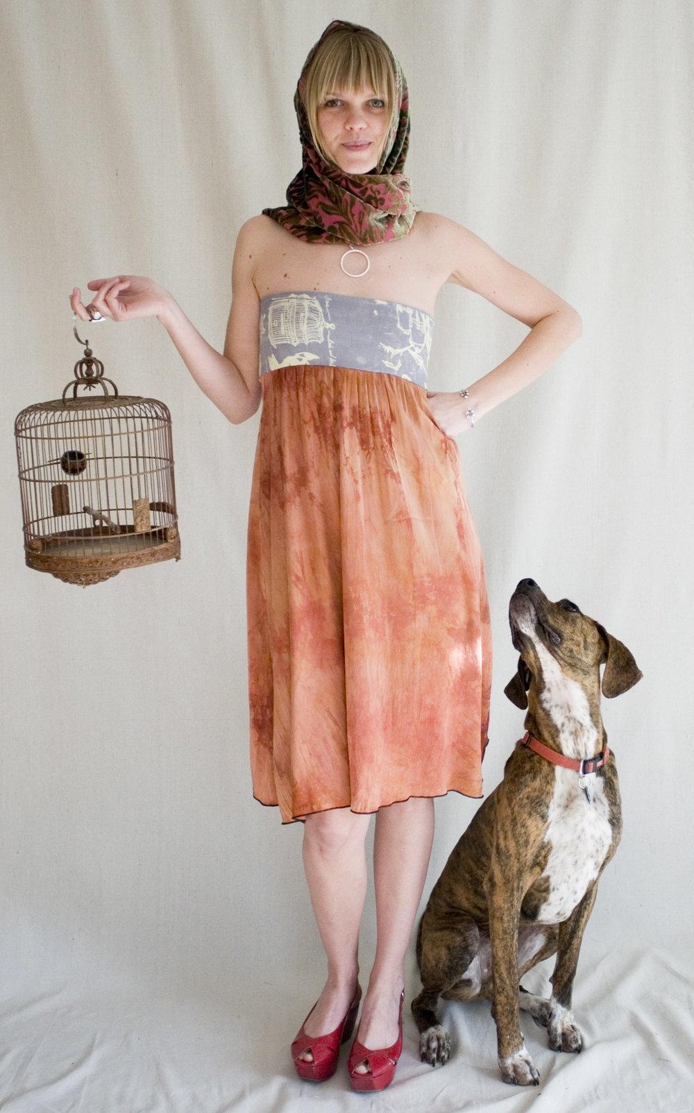 Facet Dress & Convertible Scarf