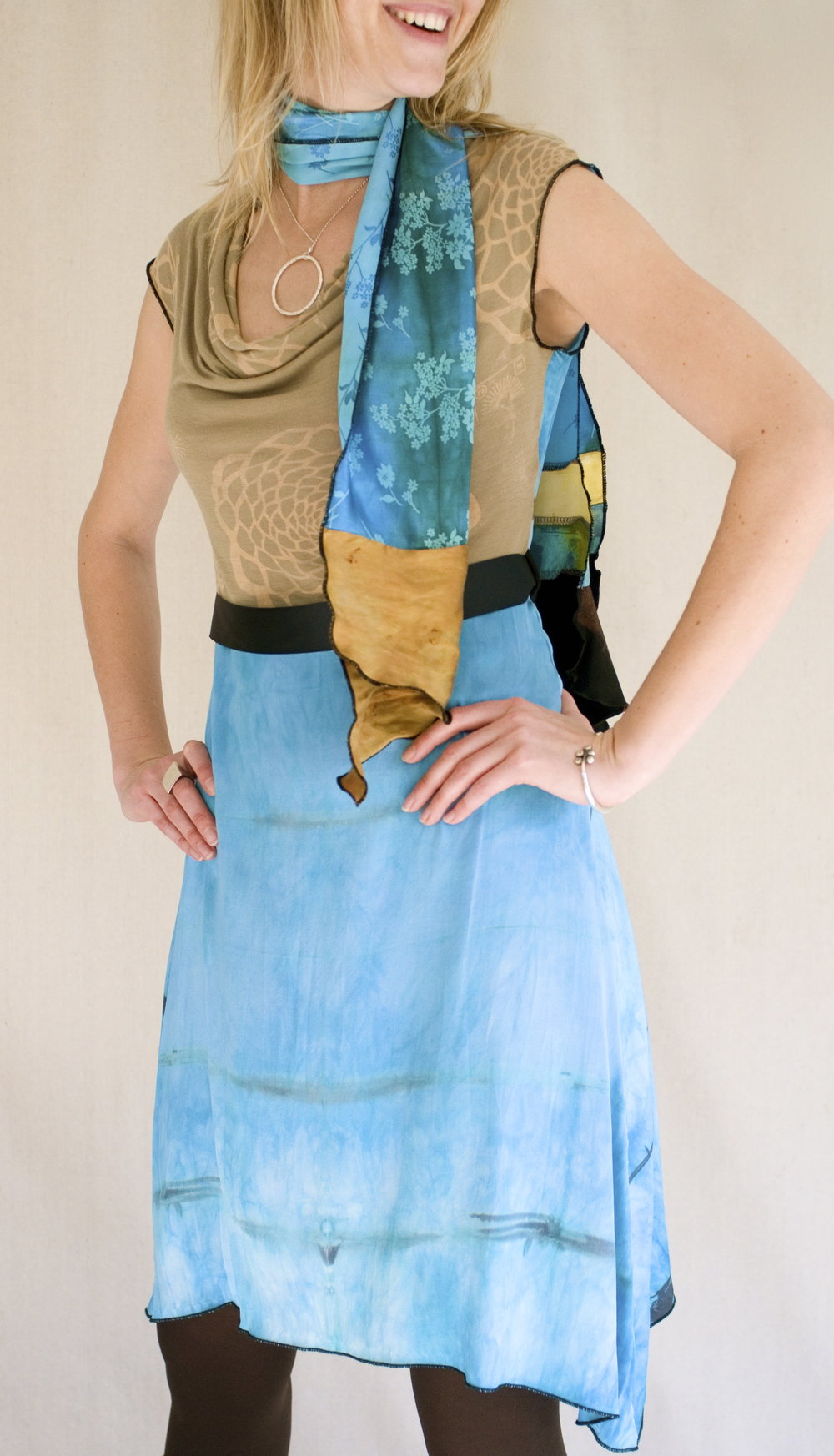 Prism Dress & Collage Scarf