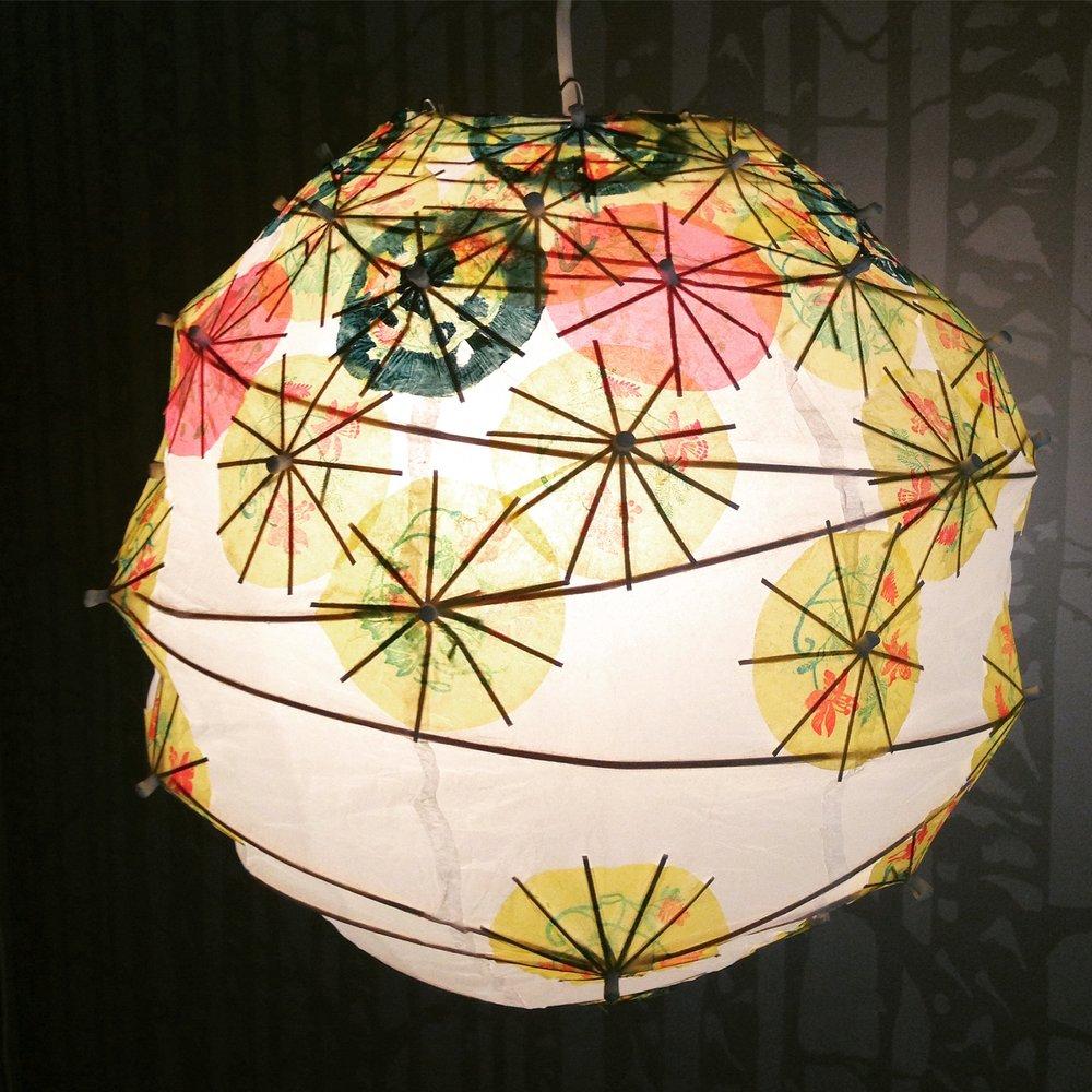Cocktail umbrella lantern.