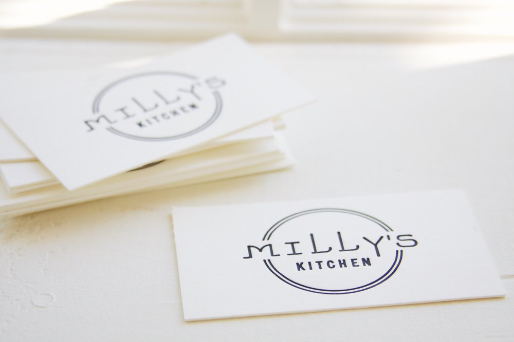 Design & Letterpress by Good South / Milly's Kitchen Logo & Letterpress Business Card