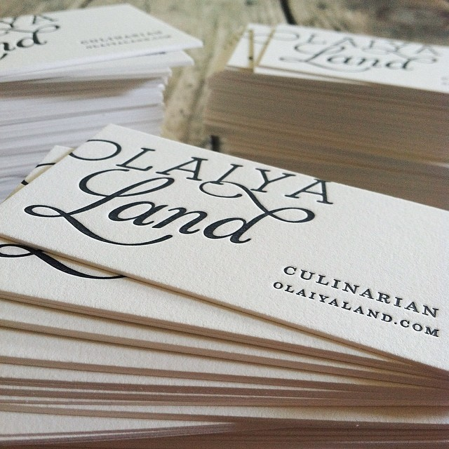 Design & Letterpress by Good South / Olaiya Land Logo & Letterpress Business Card