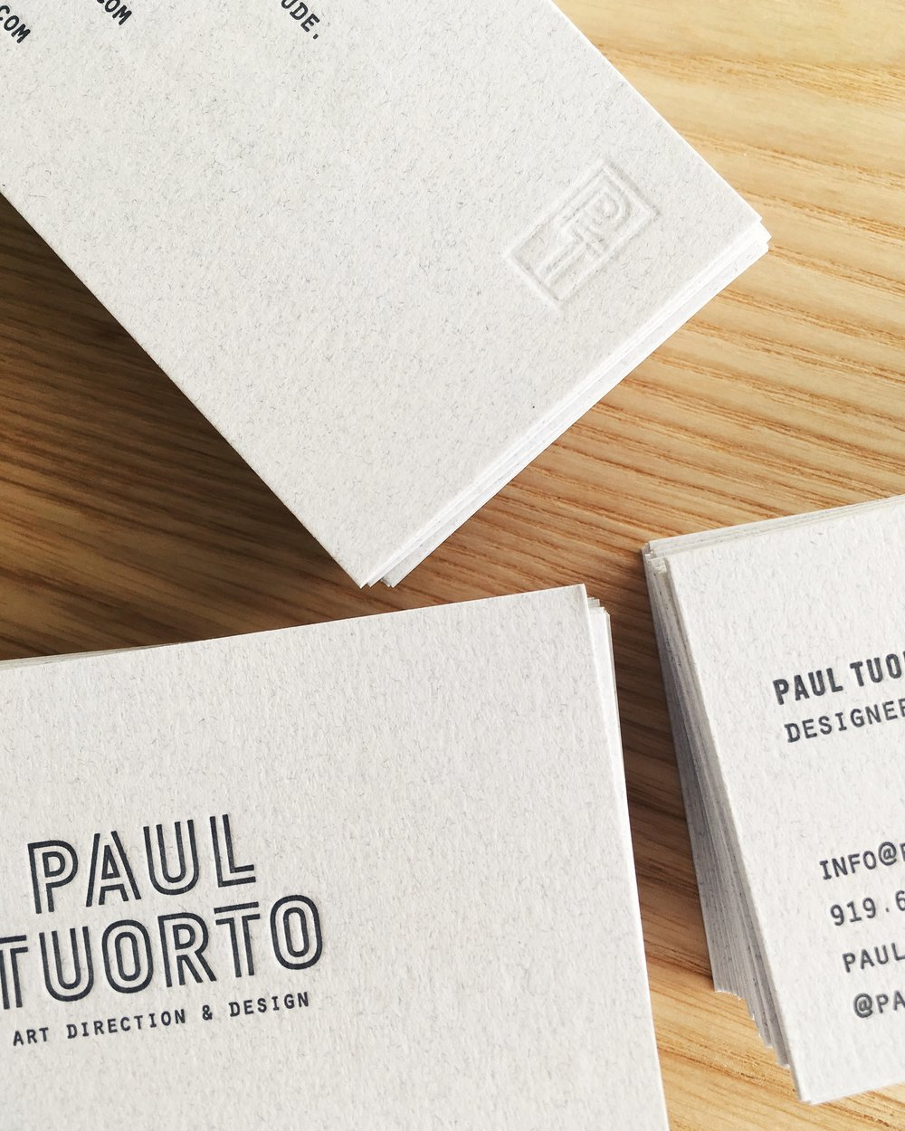 Letterpress by Good South / Paul Tuorto Letterpress Business Card