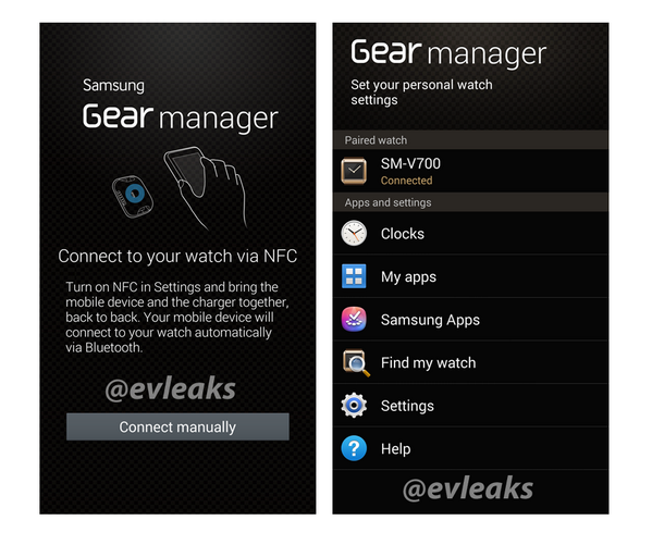 Galaxy Gear companion app  via EVLeaks