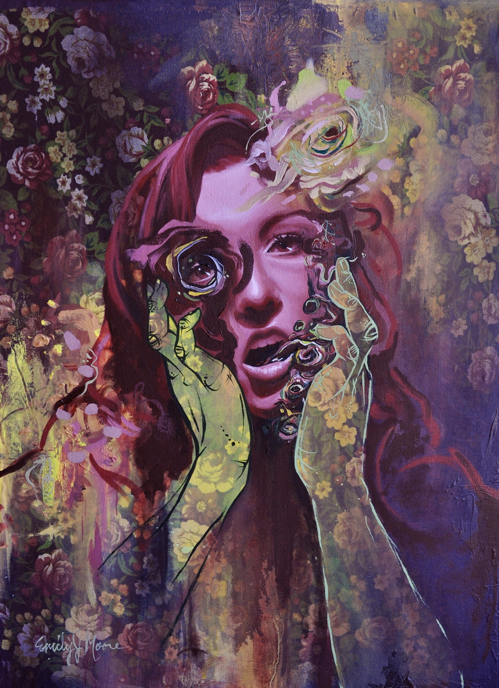 "Emily J Moore, ""Visceral Projection"", 18 by 24 inches, Mixed Media, 2013"