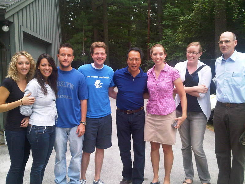 TMC Fellows with Yo Yo Ma and James Taylor