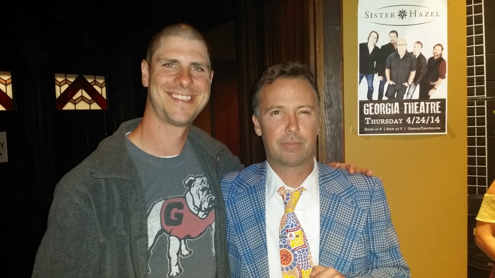 Then, only a few days later, Rett was able to meet Doug Stanhope after a great show at the Georgia Theatre.