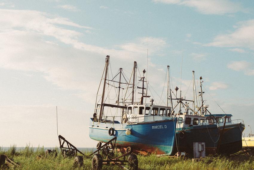 gaspesie-quebec-canada-marcl-d-bâteau-océan-boat-sunset-sea