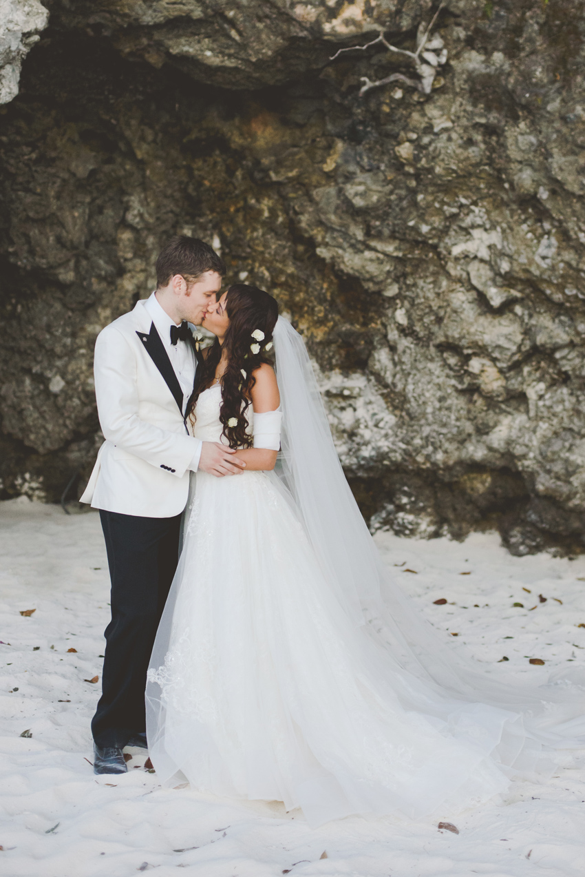 persia-white-joseph-morgan-wedding-goldeneye-hotel-oracabessa-jamaica-ocho-rios-couple-bride-groom-kiss-beach-dress-sara-megan-photography.jpg