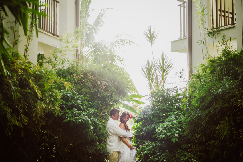 Tropical Shoot with Wedding Couple at Secrets Wild Orchid in Montego Bay by Jamaica Wedding Photographer