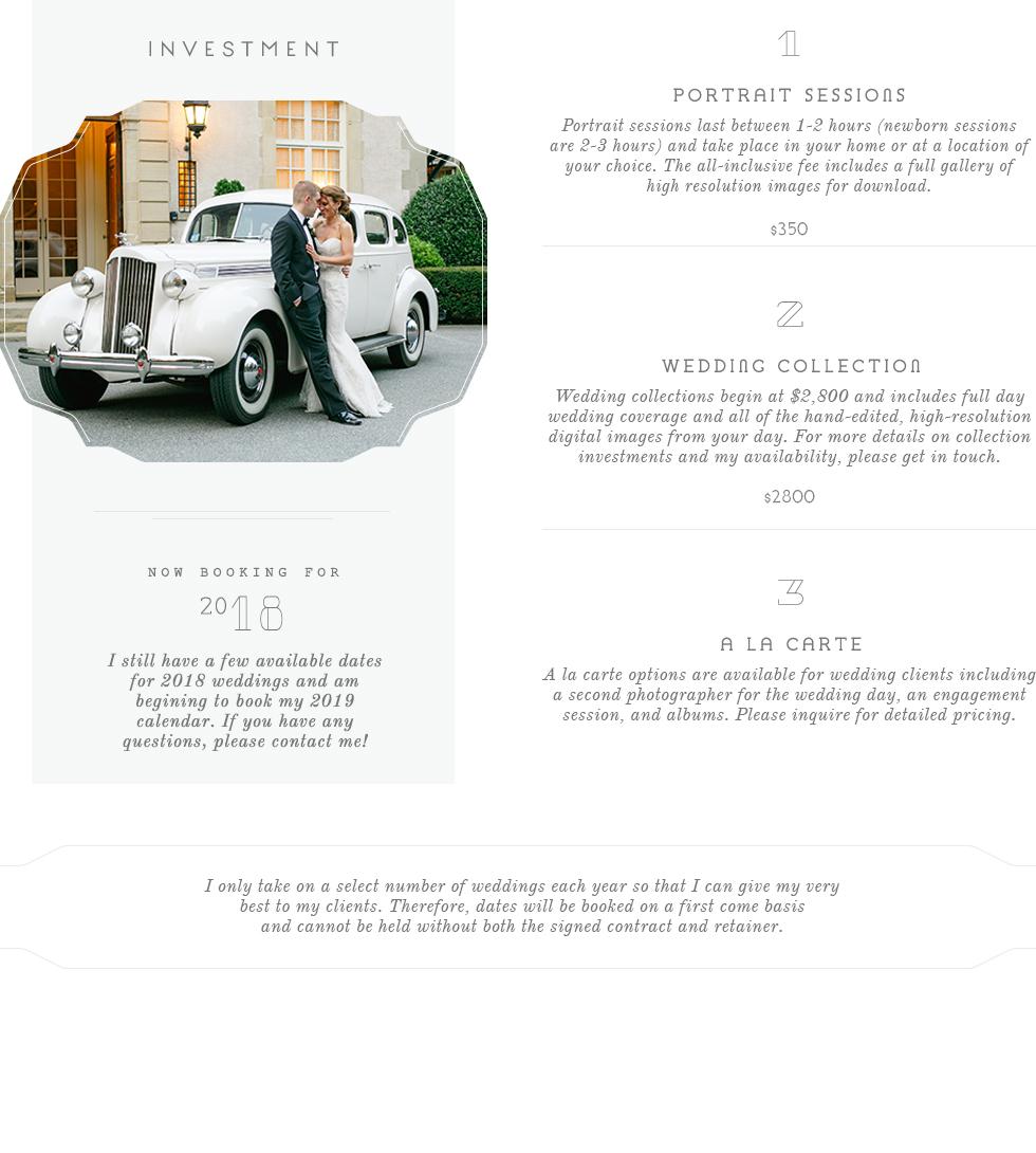 Price range for a newport Rhode Island Wedding Photographer | Prices for wedding photographers in Newport, RI