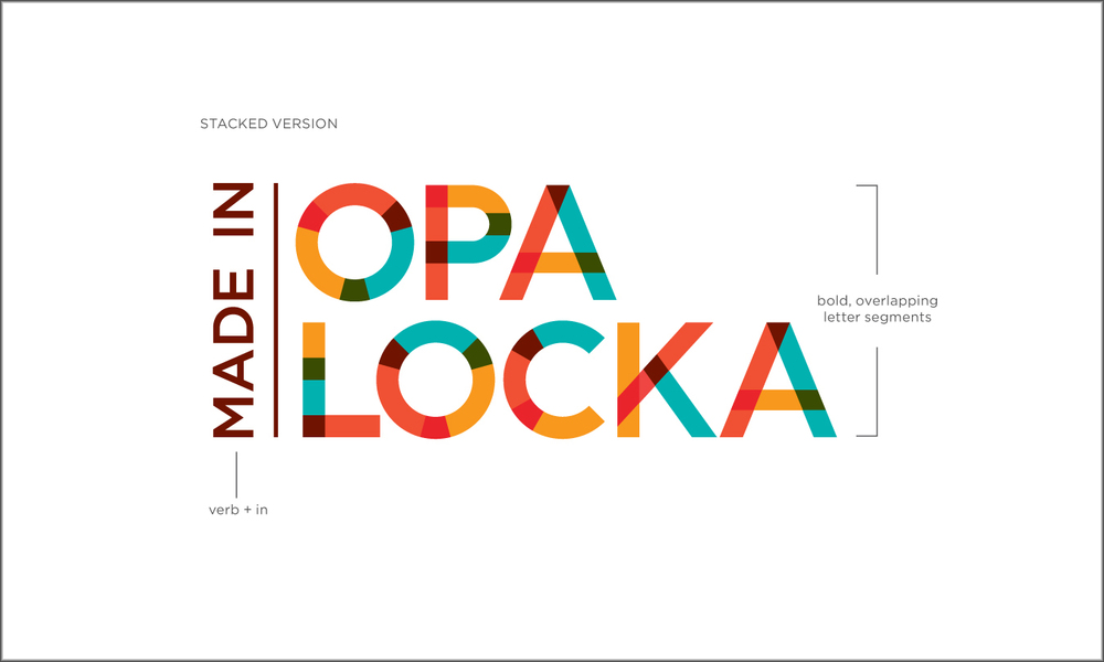 Amanda Buck develops Made in Opa-locka identity. The team is excited about her concept.