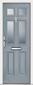 Carlton 4 Slate Grey Glazed