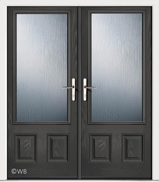 French Harton Anthracite Grey Glazed