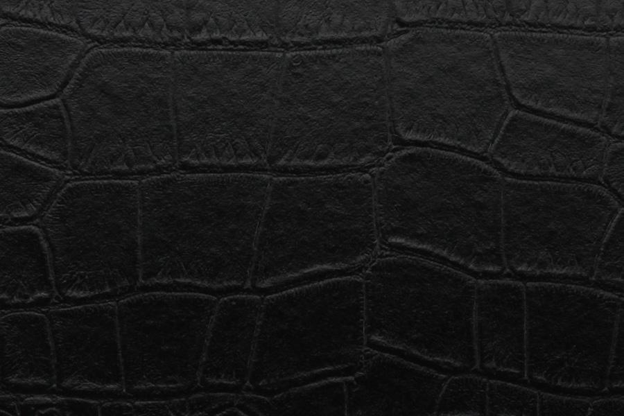 Black Alligator Leather