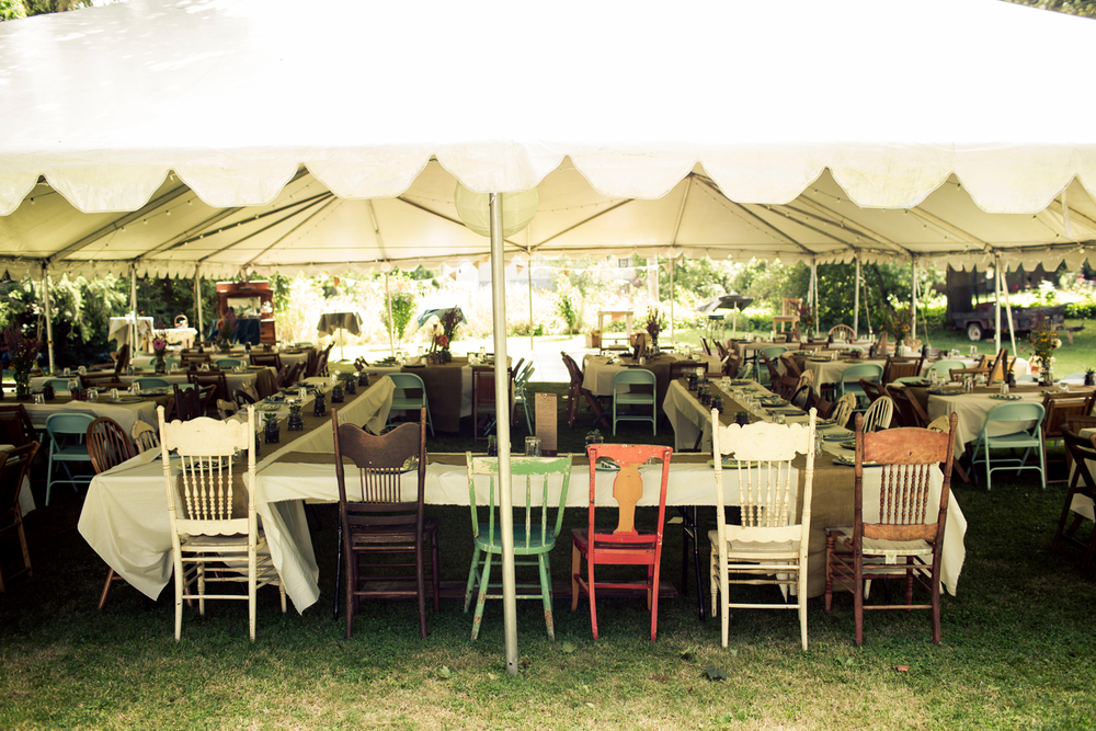 backyard wedding chairs