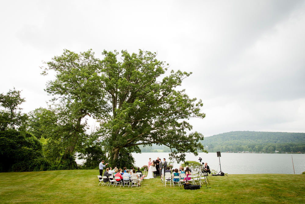 Finger Lakes wedding ceremony