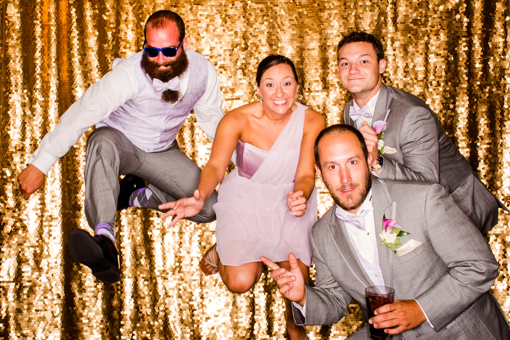 Gold backdrop photo booth