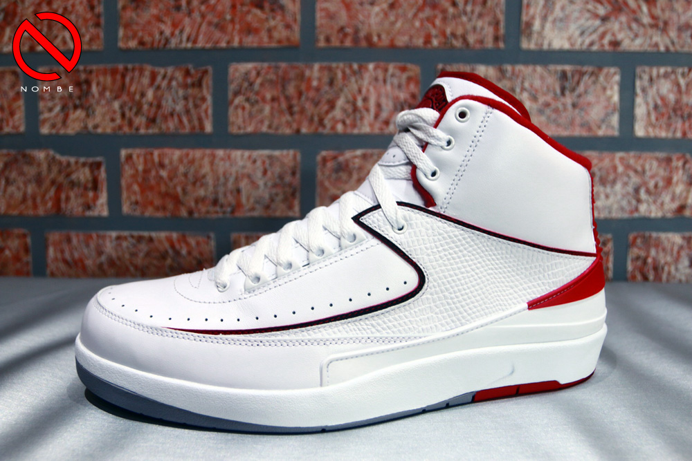 Air Jordan 2 Retro   Color:   White/Black-Varsity Red-Cement Grey   Style Code:   385475-102   Release Date:   06/07/14   Price:   $150