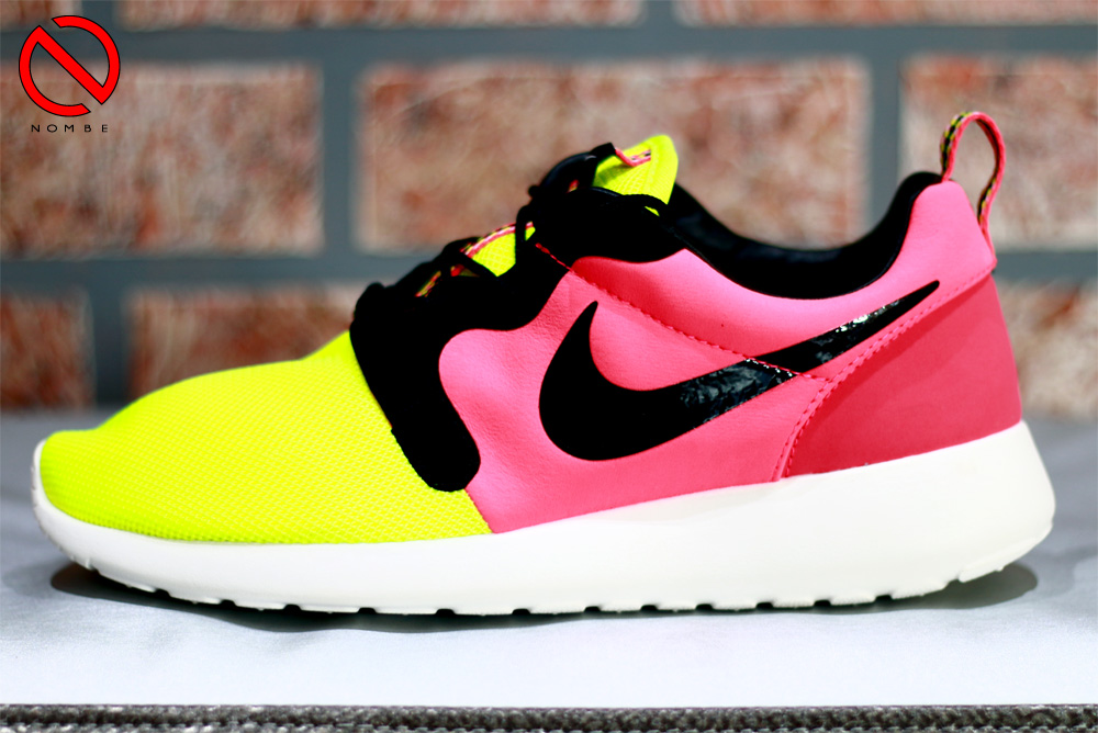 Nike Roshe Run HYP    Color: Volt/Black-Hyper Punch    Style Code: 669689 700    Price:   $100    Release Date: June 12, 2014
