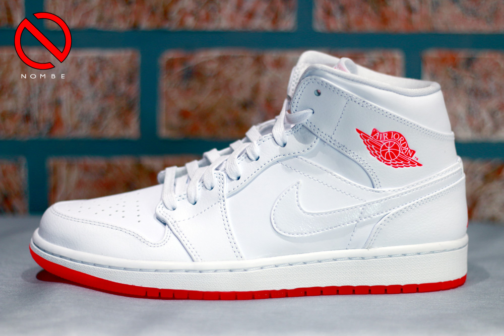 Air Jordan 1 Mid   Color:  White/Infrared 23   Style Code:  667300-123   Price:  $11 0
