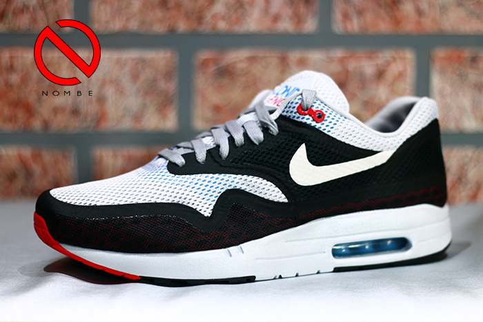 Nike Air Max 1 City    Style:  667633-001    Color:  Gysr Grey/White-Blk-Chllng Rd    Price:  $130
