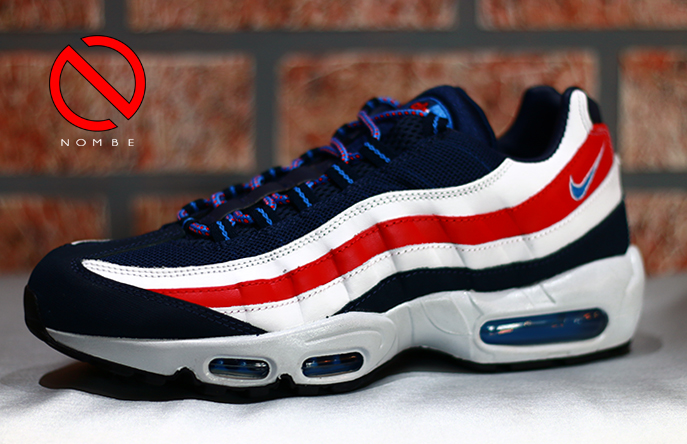 Nike Air Max 95 City    Style:  667637-400    Color:  Mid Nvy/Dstnc Bl-White-Chllng    Price:  $180
