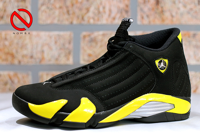 Air Jordan 14 Retro   Color:   Black/Vibrant Yellow-White   Style Code:   487471-070   Release Date:   07/04   Price:   $170