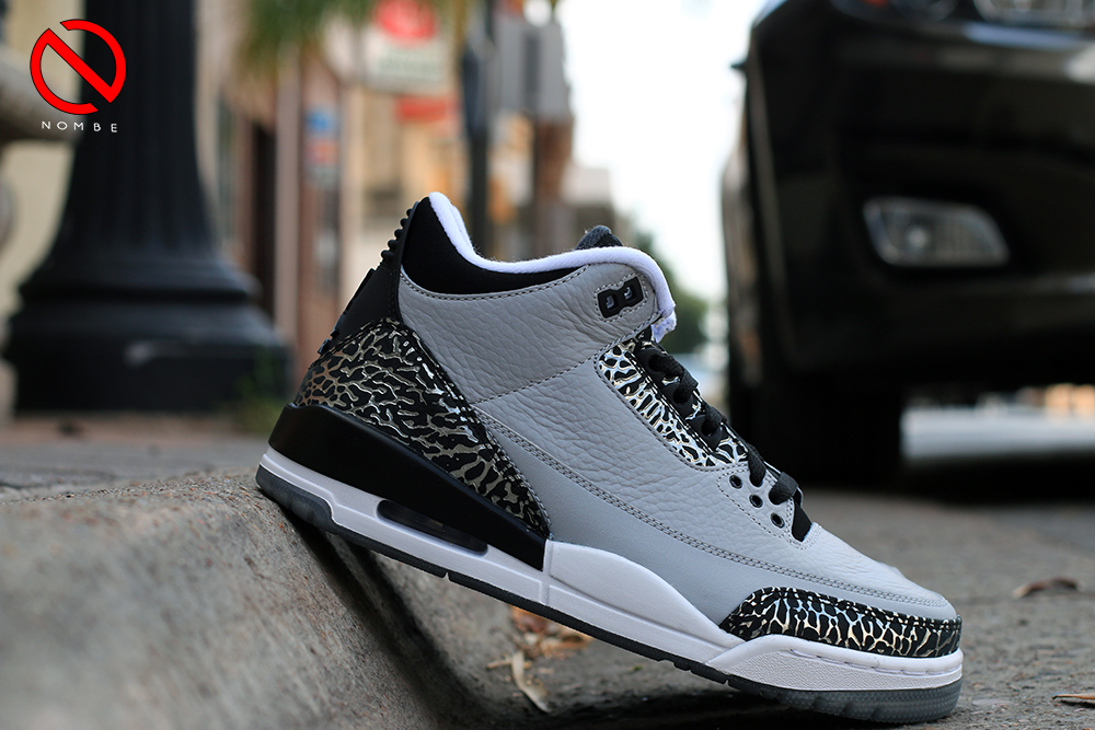 Air Jordan 3 Retro 'Wolf Grey'    Color:  Wolf Grey/Metallic Silver-Black-White   Style:  136064-004   Price:  $170   Release:  07/19