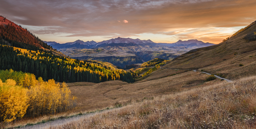Sunset on Last Dollar Road