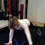 Mountain Climbers. Start in strong full plank position.