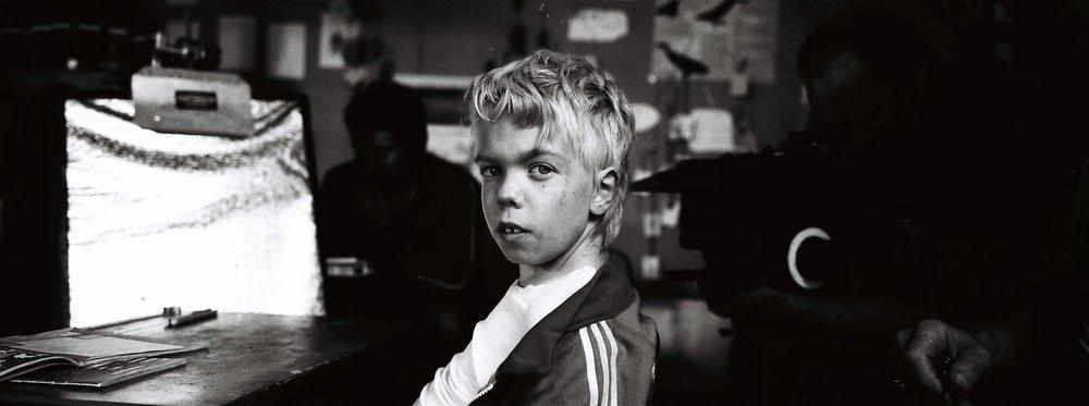 Oscar Vandy-Connor on set of The Six Dollar Fifty Man